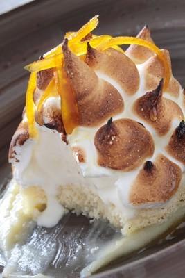 镀金烤的阿拉斯加甜点