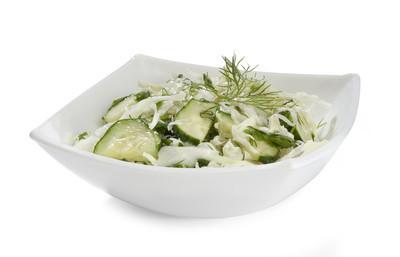 白菜和黄瓜沙拉
