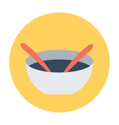 汤平面矢量图标