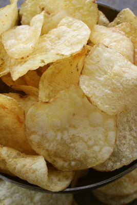 potato crisp chips on the table