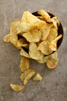 potato crisp chips in the bowl