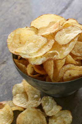 potato crisp chips in dish