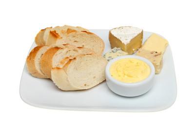 面包奶酪和黄油