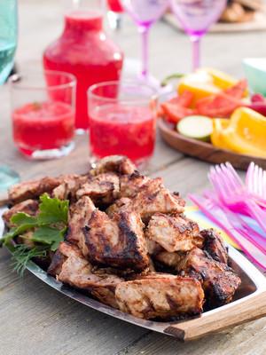 蔬菜与肉烤肉