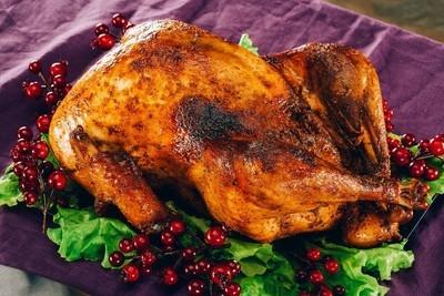 烤的火鸡的感恩节