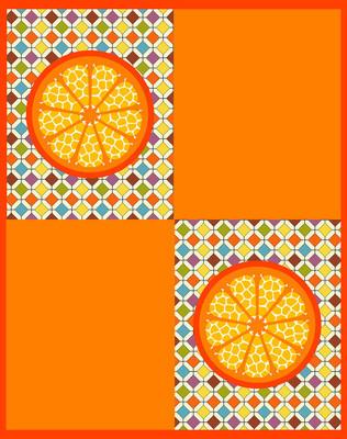 橙色的背景。向量。8 eps