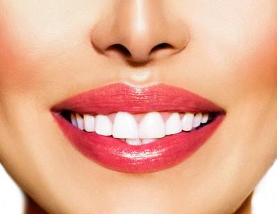 健康笑容。牙齿美白。牙科保健概念