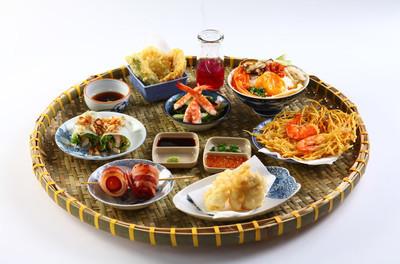 越南的托盘的寿司的日本美食