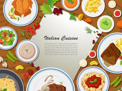 意大利菜海报设计