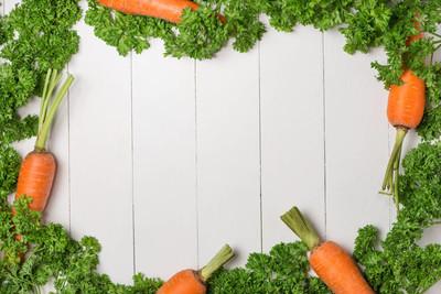 新鲜生吃胡萝卜