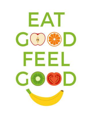 Typography 'eat good feel good'