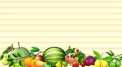 本文设计与新鲜水果
