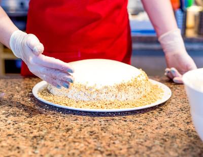 烹调自制海绵蛋糕制作过程