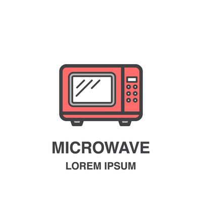 微波烤箱矢量图标