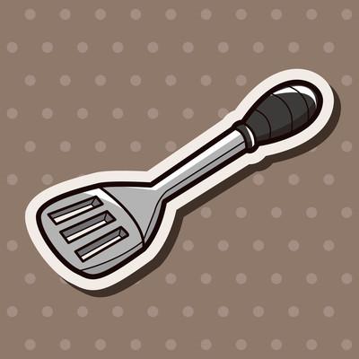 厨具锅铲主题元素矢量、 eps
