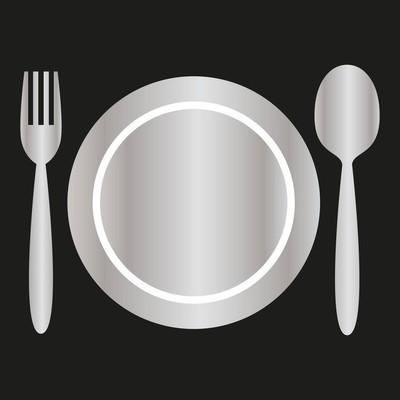 银盘、叉、勺