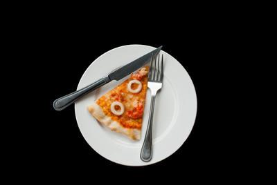 海鲜披萨切片