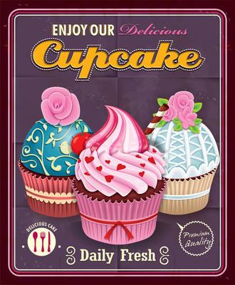 复古蛋糕海报设计