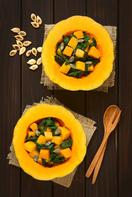 Pumpkin and Chard Salad with Pumpkin Seeds