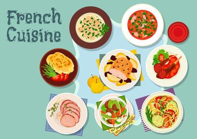 法国菜的餐厅,设计图标