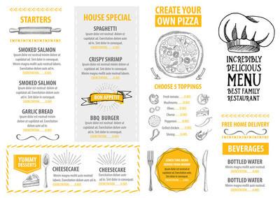意大利餐厅菜单模板设计