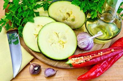 西葫芦,蔬菜和胡椒