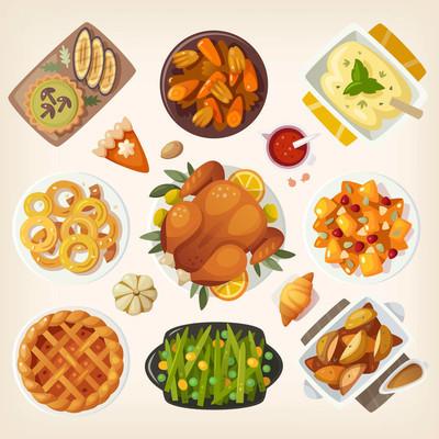 传统的感恩节大餐