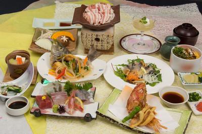 Summer of banquet Kaiseki, squid Okurasoba, sweet shrimp, macker