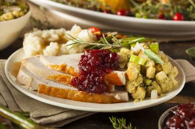 自制感恩节火鸡在盘子上