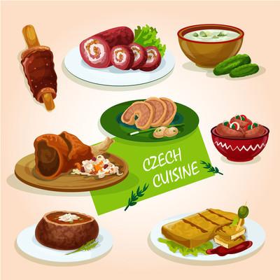 Czech cuisine comfort dishes for dinner design
