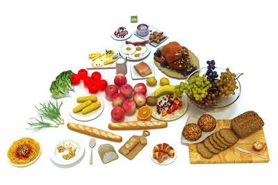 概念食物金字塔