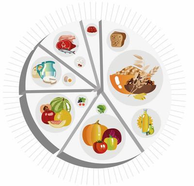 饼图食品金字塔