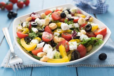 饮食与健康的地中海沙拉