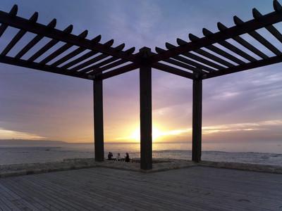 在地中海的海景日落, 以色列
