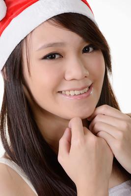 圣诞节的亚洲女孩