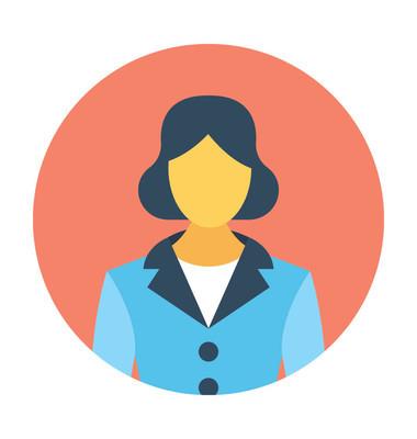 女性头像矢量图标