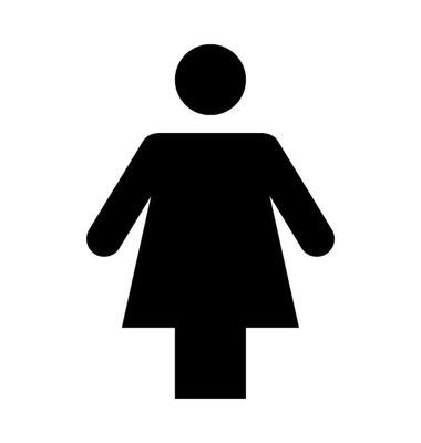 女性剪影平面矢量图标
