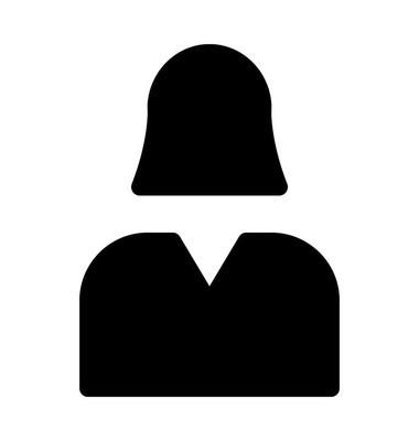 女性头像平面矢量图标