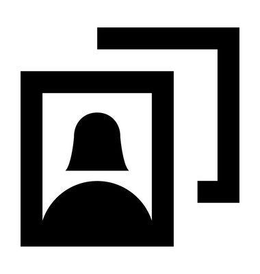 照片框架矢量图标