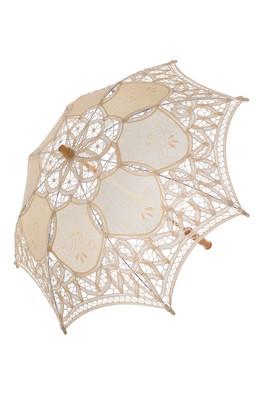 在清晰明亮花边伞