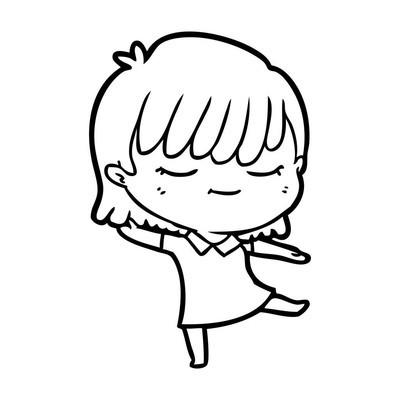 卡通女性的矢量插图