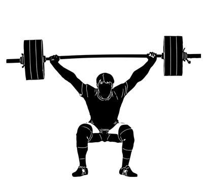 运动。举重。重量。运动员