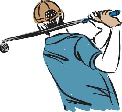 高尔夫玩家矢量图