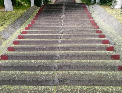 background of stairs of health where people can exercise outdoors
