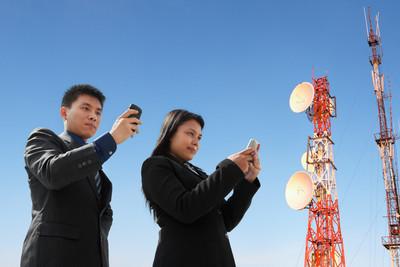 亚洲业务发短信和天线