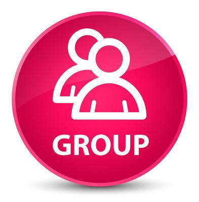 集团优雅粉色圆形按钮