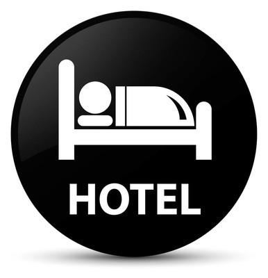 酒店黑色圆形按钮