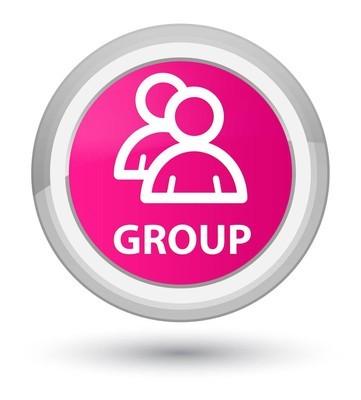 组主粉红色圆形按钮