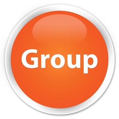 组高级橙色圆形按钮