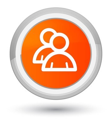 组图标橙色圆形按钮